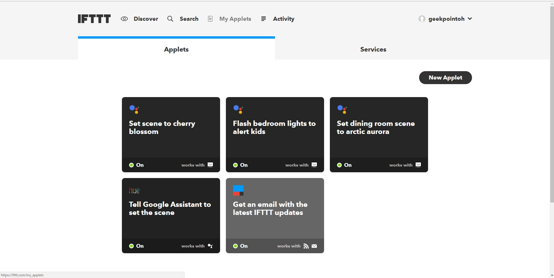 How to Create a Custom IFTTT Applet | {geekpointoh}