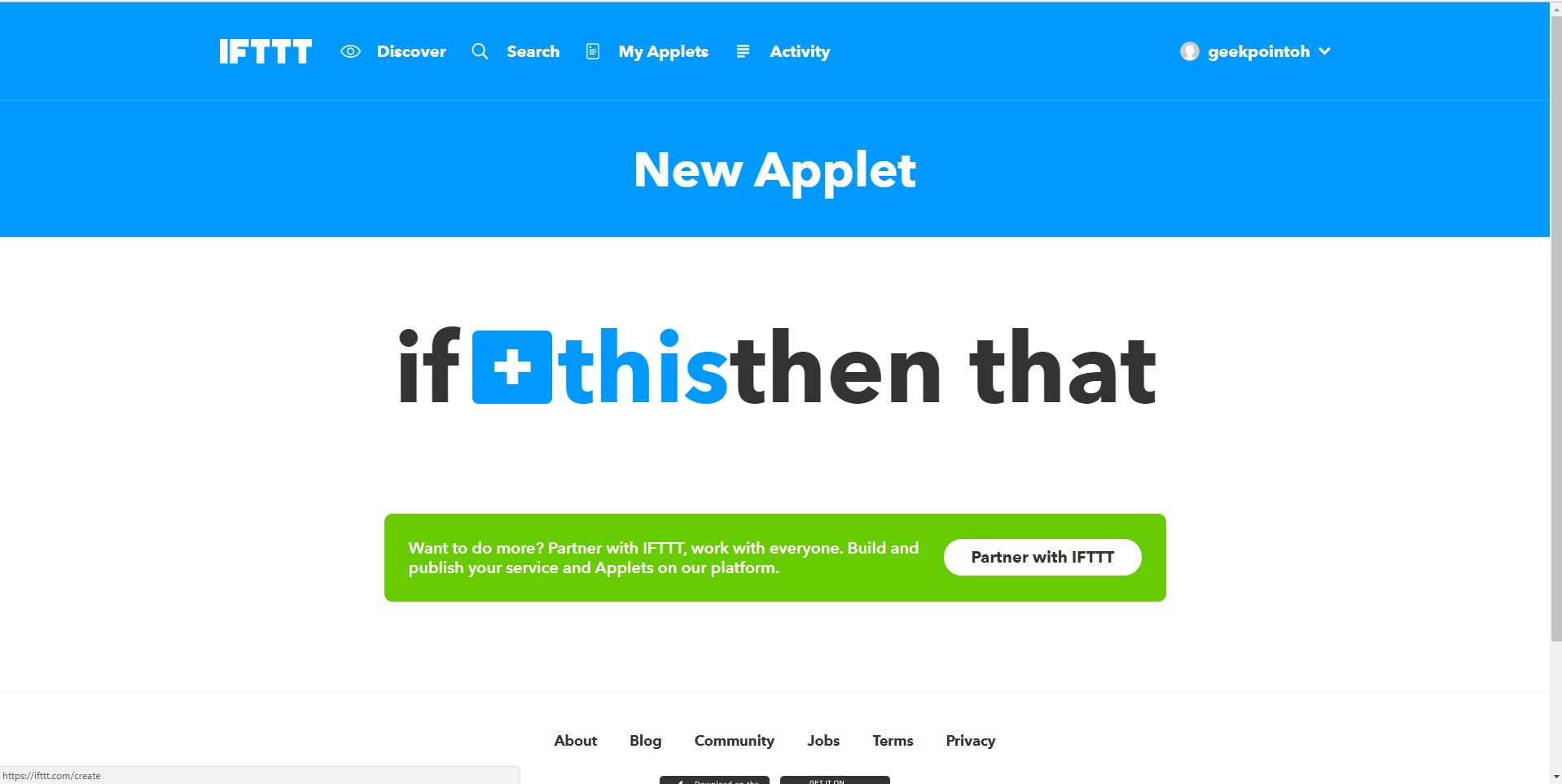 How to Create a Custom IFTTT Applet   {geekpointoh}